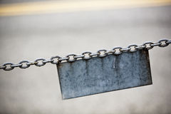Chain and Sign Royalty Free Stock Photos