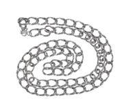 chain silver Fotografering för Bildbyråer
