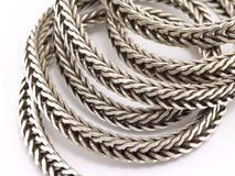 chain silver Arkivfoton