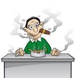 Chain smoker - addicted to nicotine Royalty Free Stock Photography