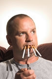Chain Smoking Royalty Free Stock Image