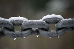 Chain in the snow Royalty Free Stock Photography