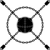 Chain Sphere Seamless Royalty Free Stock Image