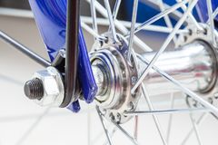 Chain and sprocket of bicycle. In close up of a Chain and sprocket of bicycle stock photos
