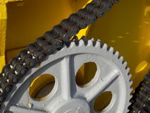 Chain and Sprocket Royalty Free Stock Images