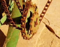 Chain and sprocket. Royalty Free Stock Photo