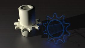 Chain sprockets - From design to real product Stock Images