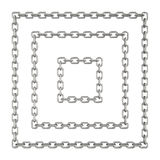 Chain squares isolated on a white background Royalty Free Stock Photography