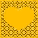 chain stakethjärtasammanlänkning Arkivbild