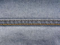 Chain stitch on blue jeans. Chain stitch on blue color jeans stock photography