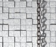 Chain on stone background Royalty Free Stock Images