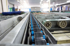 Chain Support for Pallet Conveyor line Stock Photography