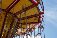 Chain swing carousel ride Stock Photo