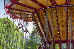 Chain swing carousel ride Stock Image