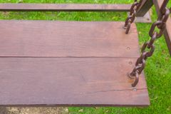 Chain swing in the park Stock Photos