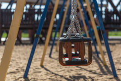 Chain swing of the playground Stock Photos