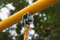 Chain of swing in playground Stock Photos
