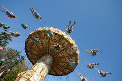 Chain Swing Ride. At amusement park Royalty Free Stock Image