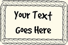 Chain text frame Royalty Free Stock Images