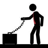 Chain to briefcase Stock Photos