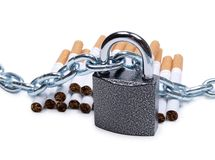 Chain on tobacco Royalty Free Stock Image