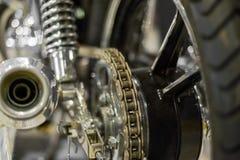 Chain transmision för motorcykel Fotografering för Bildbyråer
