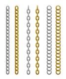 Chain uppsättning vektor illustrationer