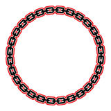 Chain. A vector illustration of a metal chain Royalty Free Stock Photography