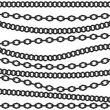 Chain vector pattern. Black silhouette on white background. Royalty Free Stock Photos