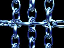 Chain vol 2. 3d Background of a chain Stock Photos