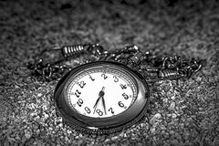 Chain Watch. And sand in black and white stock illustration