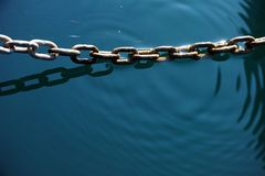 Chain in the water Royalty Free Stock Photo