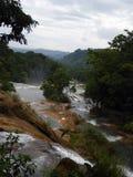 Chain of Waterfalls at Agua Azul Cascades Stock Photo