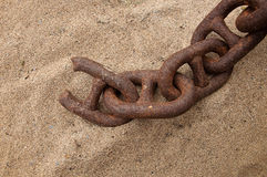 Chain and the weakest link. This chains make clear what the weakest link was Stock Images