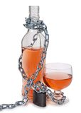 Chain and whiskey Royalty Free Stock Photo