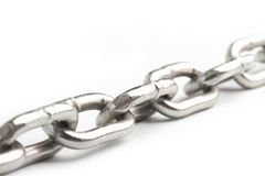 Chain on white Royalty Free Stock Images