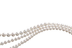 Chain of white pearls Stock Photo