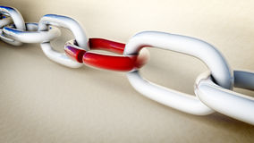 Chain With Weak Link Stock Photo