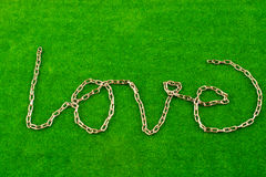 Chain writes love Royalty Free Stock Images