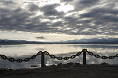 chain on Yellowstone Lake Stock Images