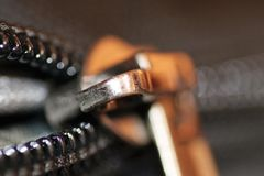 Chain and zip. Are one of the most important and useful inventions Royalty Free Stock Image