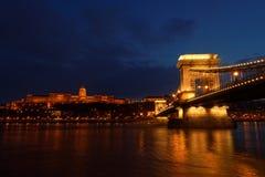 Chainbridge在匈牙利布达佩斯 库存照片