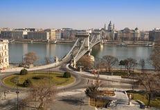 chainbridge在布达佩斯 库存图片
