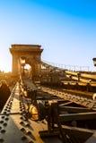 Chainbridge i Budapest Arkivfoton