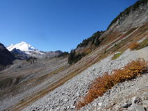 Chaine Lakes Trail in fall Royalty Free Stock Image