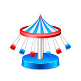 Chained carousel isolated on white vector Royalty Free Stock Photos