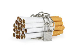 Chained cigarettes Royalty Free Stock Images