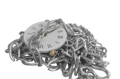 Chained clock Royalty Free Stock Image