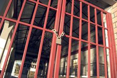 Chained Door Stock Photos