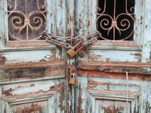 Chained Door, Athens Stock Image